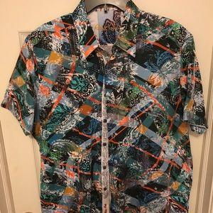 Robert Graham Short Sleeved Men's Shirt (XL)